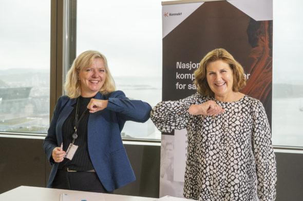 Kirsti Slotsvik og Ingrid Dahl Hovland